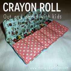 DIY crayon roll for toddlers and babies when our and about