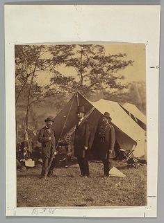 Two weeks after he recorded the carnage at Antietam, Alexander Gardner returned to the battlefield to photograph the visit of President Abraham Lincoln. The president made the seventy-mile journey to Maryland to pay his respects to the wounded on both sides and to confer with his field generals
