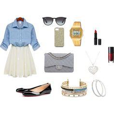 """outfit stile Bershka"" by chiara-di-stefano on Polyvore"