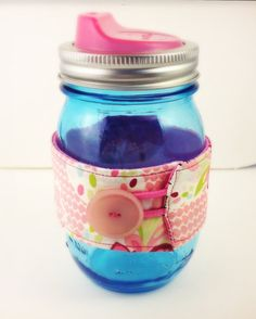 Collectible Blue Mason Jar Cozy & Cuppow by WoodenClothespin