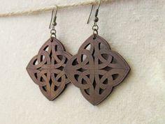 whiteleaf jewellery walnut wood earrings