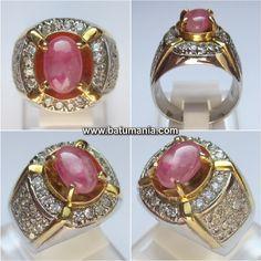 Cincin Batu Natural Pink Sapphire (Safir) Burma