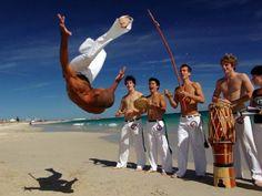 Capoeira on the beach. Brasil