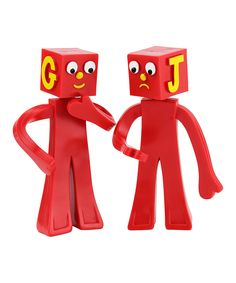 Love this Block Heads Figure Set by Gumby on #zulily! #zulilyfinds