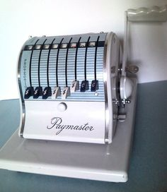 Vintage Paymaster S1000 Check Writer by GrandmaDebbysCloset, $35.00