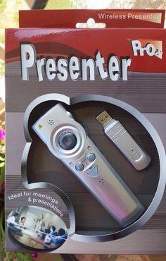 JRC-007 Presenter Pro+ Wireless Presentation and Wireless Laser Pointer – Silver #PresenterPro