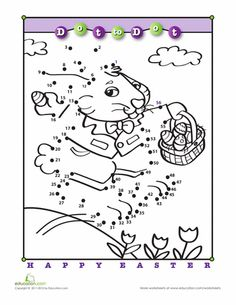 Worksheets: Hop, Hop Dot-to-Dot!