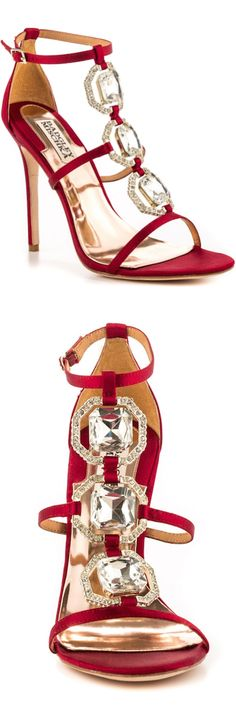 Badgley Mishka Harvey Crystal Embellished Sandals