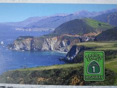 Postcard of the Pacific Coast Highway