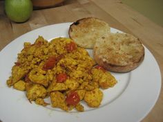 not the greatest photo, but this is my favorite tofu scramble recipe