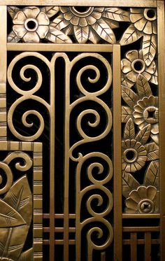 Art Deco...brass instead of iron, but gorgeous example of art deco
