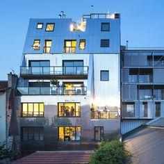 À Montreuil, les associés de l'agence archi5 ont décidé de construire leurs propres logements au cœur d'une longue aventure en autopromotion. À l'origine, c'est un terrain en vente à coté des bureaux de l'agence qui a entrainé le projet. ...