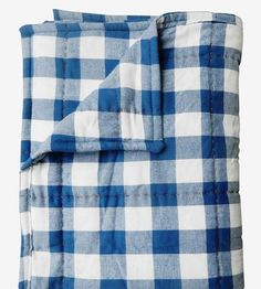Blue Flannel Wholecloth Blanket