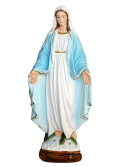 Our Lady of Grace statue height 35 cm. in resin, hand painted with acrylic colors. Made in Italy