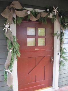 Homemade Beauties By Heidi: Coastal Christmas: Front Door Design