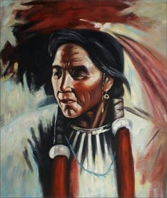 Native American Oil Paintings  | Framed Oil Painting Portrait of A Native American Hand Painted 20x24in ...