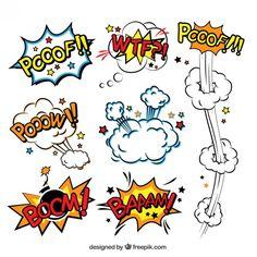 Balões de fala em quadrinhos de explosões