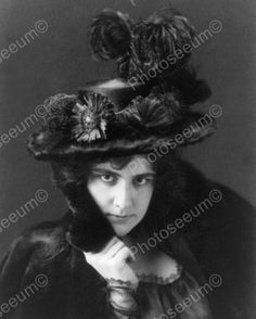 Victorian Lady In Black Plume Hat 1800s 8x10 Reprint Of Old Photo