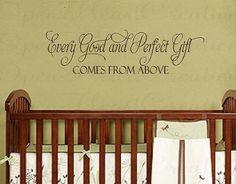 Church Nursery Themes | Church Nursery Ideas / Every Good and Perfect Gift Wall Decal Baby by ...
