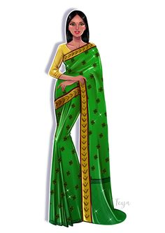This step-by-step tutorial will show you how to draw saree easy in your fashion design sketches. This saree drawing tutorial for beginners is easy and effective Fashion Model Sketch, Fashion Design Sketchbook, Fashion Design Drawings, Fashion Sketches, Fashion Models, Fashion Illustration Poses, Dress Illustration, Fashion Drawing Dresses, Dress Drawing