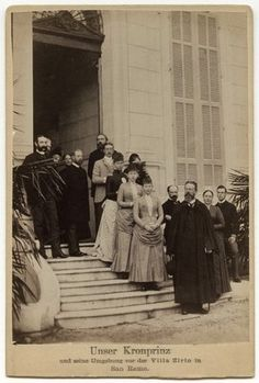 Frederick III, Emperor of Germany and King of Prussia Victoria, Empress of Germany and Queen of Prussia Princess Margarete, Landgravine of Hesse Prince Henry of Prussia Princess Adolf of Schaumburg-Lippe (nee Princess Victoria of Prussia) Sophie, Queen of Greece (nee Princess Sophie of Prussia