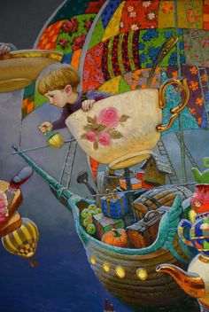 Victor Nizovtsev and his charming paintings - Fantasy Book Illustrations, Children's Book Illustration, Fantasy Books, Fantasy Art, Victor Nizovtsev, Art Fantaisiste, Candy Art, Fantasy Paintings, Owl Paintings