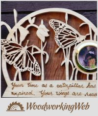 EDITOR'S CHOICE (04/06/2016) Butterfly Plaque by Celticscroller View details here: https://woodworkingweb.com/creations/2773-butterfly-plaque