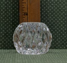 Waterford Pressed Crystal Stick Candle holder- Diamond Cut p. by MyOldAttractions on Etsy