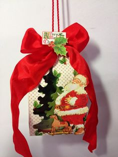 G45 Twas the Night Before Christmas tag treat bag by Anne Rostad