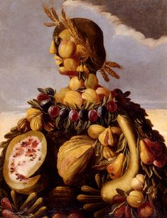 Large art Oil painting Giuseppe Arcimboldo - The Seasons with fruits canvas Giuseppe Arcimboldo, Italian Painters, Italian Artist, Renaissance Artists, Fantasy Paintings, Portrait Paintings, Portraits, Oil Painting Reproductions, Large Art