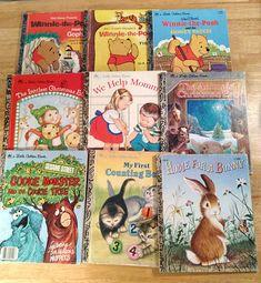 Vintage Lot of 16 Golden Books Tigers Adventures Birds Mother