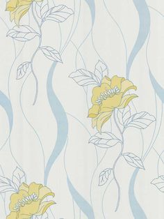 Cordelia Floral Wallpaper by Brewster. Find this pattern at AmericanBlinds.com.