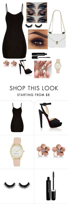 """Untitled #92"" by kadincer04 ❤ liked on Polyvore featuring BasicGrey, Christian Louboutin, Nine West, Allurez, Marc Jacobs and Valentino"