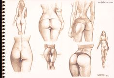 buttocks studies - pencil drawing by rafater.deviantart.com on @deviantART