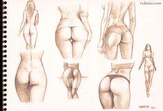 buttocks studies - pencil drawing by rafater.deviantart.com on @deviantART