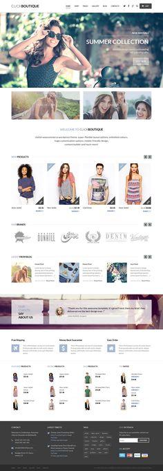Click Boutique - Fashion Shop WordPress WooCommerce Theme #ecommerce #wordpress Live Preview & Download: http://themeforest.net/item/click-boutique-fashion-shop-wordpress-woocommerce-theme/8001338?ref=ksioks