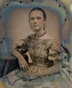 These vintage photos are tintypes and daguerreotypes taken between 1840s to 1860s. Of course they were in black and white before colorizing ...
