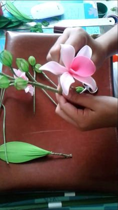 How to make stocking-flower (Dendrobium) by www.ployandpoom.com 2/2