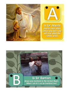 LDS ABC book that you can download and customize (in Powerpoint). You many then print the pages and put them into a small photo album.