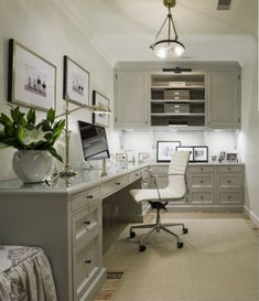 A gray, neutral office as  a backdrop for fueling creativity