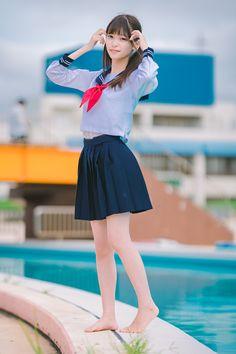 Japanese School Uniform, School Uniform Girls, High School Girls, School Girl Japan, Japan Girl, Cosplay Anime, Cosplay Girls, Body Photography, Cute Japanese Girl