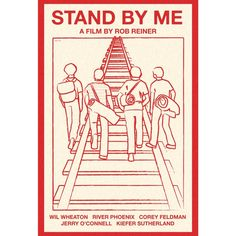 Stand by Me movie poster illustration. for Sage's room.
