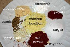 Fajita Spice Mix, I usually always make my own mix instead of buying it.