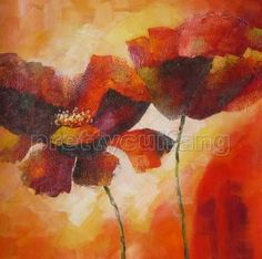 Framed Hand Wall Art Flowers Oil Painting Canvas Px166