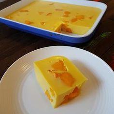 No Bake Mango Mousse Slice . No Bake Mango Mousse Slice Mango Jello Recipes, Mango Dessert Recipes, Refreshing Desserts, Delicious Desserts, Mango Recipes Baking, Cream Recipes, Vegan Desserts, Yummy Food, Indian Desserts