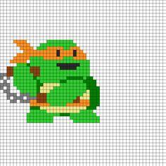 TMNT Michelangelo Perler Bead Pattern