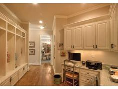 Mudroom with office
