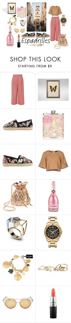 """""""To Madrid"""" by ira-malakhova ❤ liked on Polyvore featuring TIBI, Ethan Allen, Valentino, Topshop, The Fifth Label, Miss Selfridge, Alexis Bittar, Michael Kors, Dolce&Gabbana and GUESS"""