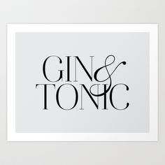 in the kitchen? Gin Art Print by Note to Self: The Print Shop - $18.00