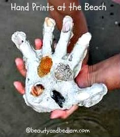 hand prints plasterofparis - how cool is this to remember each year at the beach with your kids!  via @beautyandbedlam